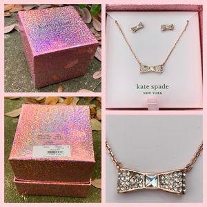 Kate Spade Ready Set Bow Earring Necklace Box Set
